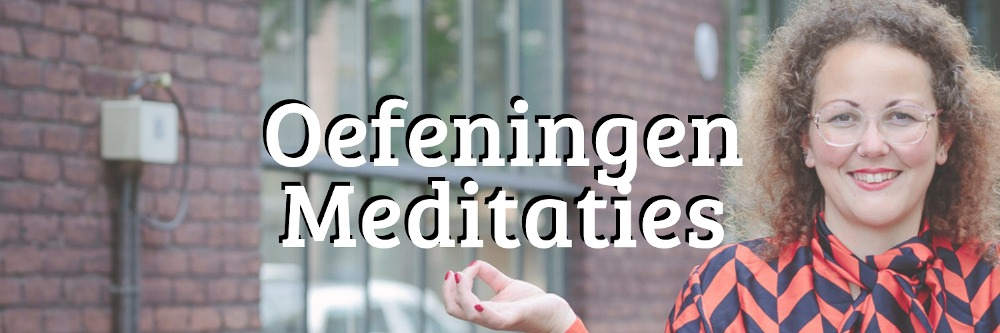 Banner oefeningen en meditaties bij eetbuien en emotie-eten
