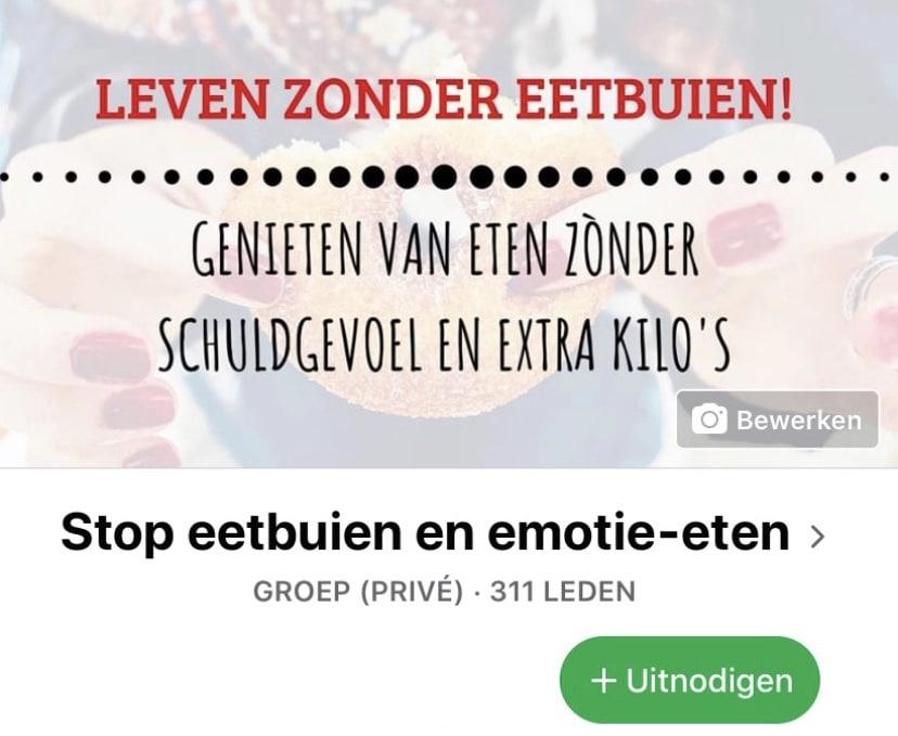 mijn facebookgroep stop eetbuien en emotie eten